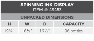 Bingo Ink Displays Specs