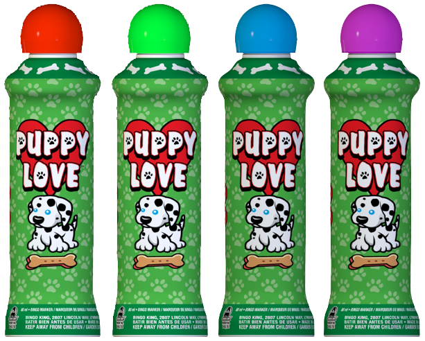 Puppy Love Bingo Ink Markers